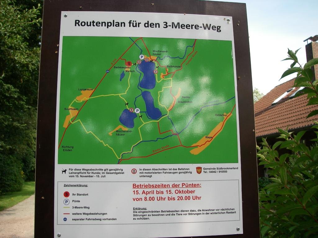 Fahrradwege Ostfriesland Karte.Drei Meere Weg Ostfriesland Entdecken
