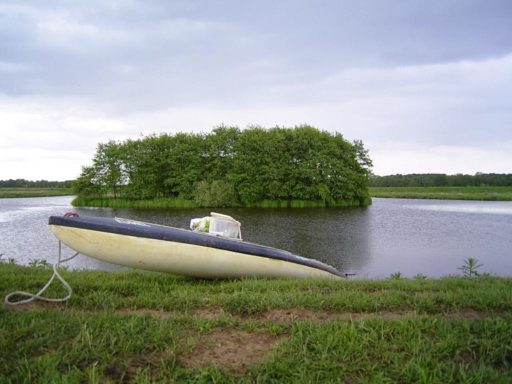 Zurück zum Sauteler Kanal mit Insel