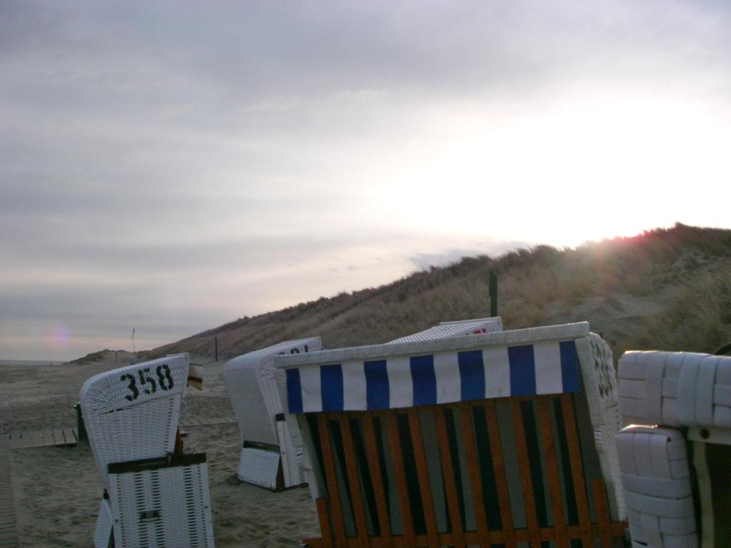 Pause am Strandkorb
