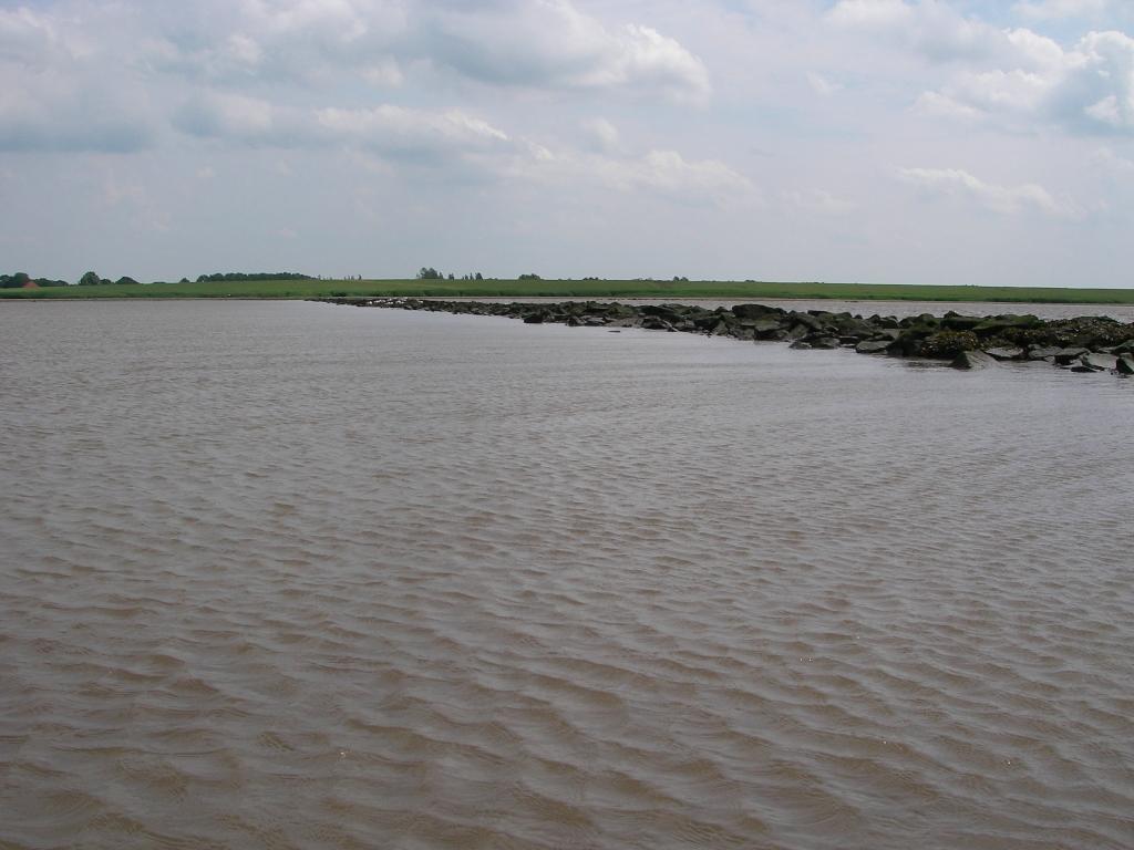 Geise-Leitdamm ca. 1,5 h vor Hochwasser...