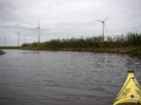 Die Windmühlen sind allgegenwärtig.