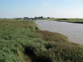 Siel und Aa, ca. eine Stunde vor Hochwasser.