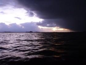 Hagelsturm Großes Meer