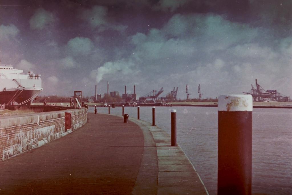 Blick von Westmole Richtung Hafen Emden