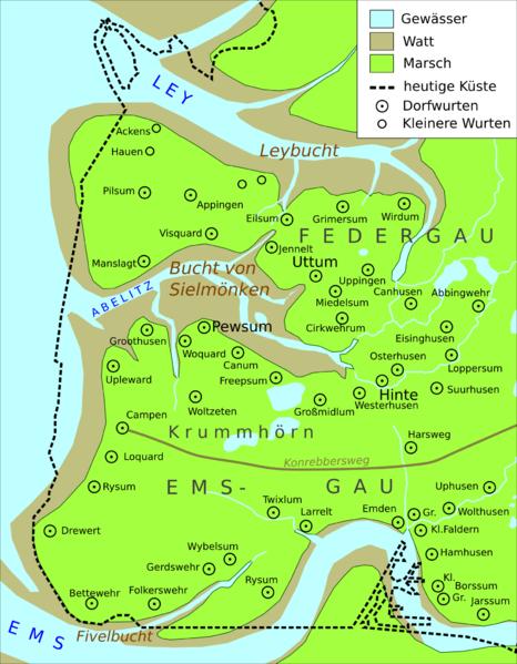 Die Bucht von Sielmönken um 800 n.Chr.
